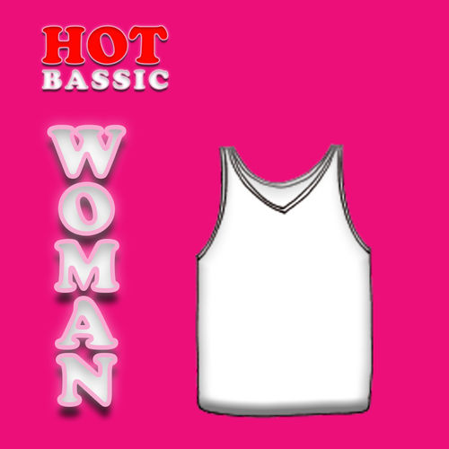 CAMISETA T/ANCHO MUJER HOT BASSIC 7552