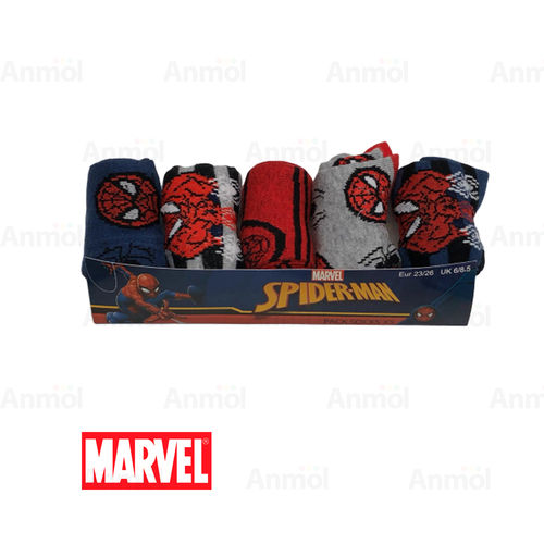 PACK5 CALCETÍN INFANTIL MARVEL SPIDERMAN